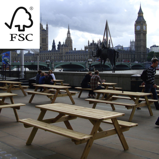 sherwood fsc certified picnic table 1800, flat pack delivery