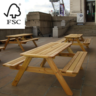 sherwood fsc certified picnic table 1800 set of 5 (flat pack delivery)